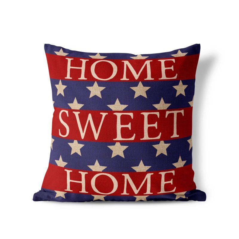 Home Sweet Home - American Fourth of July Patriotic Pillow Cover-