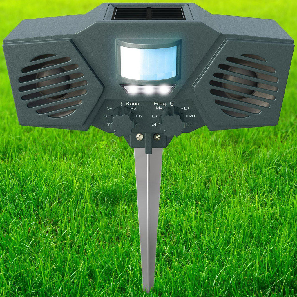 Daily Steals-Hoont Powerful Solar Battery Powered Ultrasonic Outdoor Animal and Pest Repeller - Motion Activated-Outdoors and Tactical-