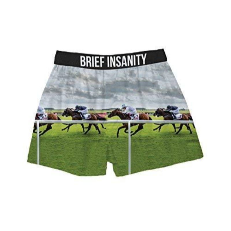 "Men's Boxer Briefs ""Horse Track""-M-Daily Steals"