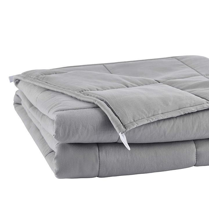 Daily Steals-Hotel Elements Calming Weighted Blanket - 15lbs or 20lbs-Home and Office Essentials-Light Gray-15LB-