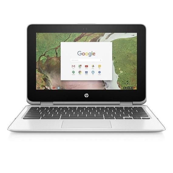 Daily Steals-HP Chromebook x360 11-inch Convertible Laptop, Intel Celeron N3350, 4GB RAM, 32GB eMMC storage, Chrome OS-Laptops-