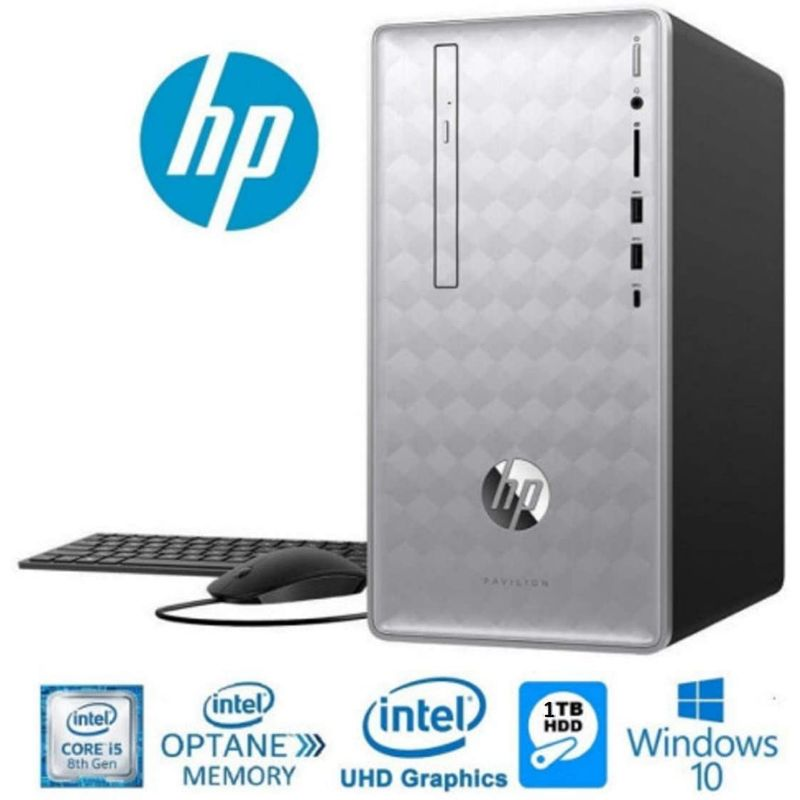 HP Pavilion 590 Desktop Computer, Intel 6 i5-8400, 8GB RAM, 16GB Memory, Windows 10