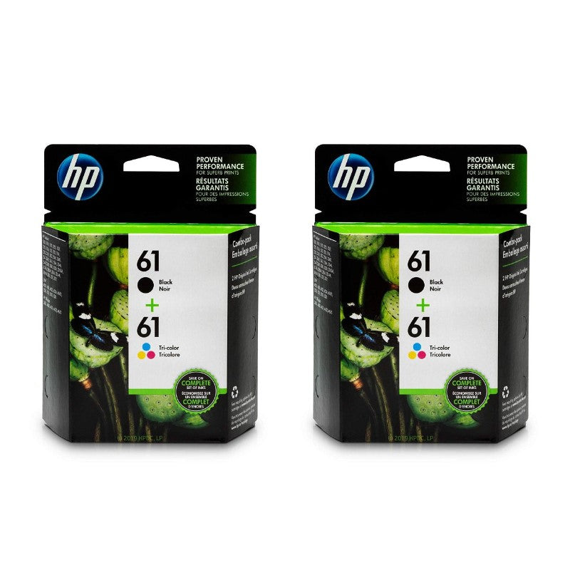 HP 61 | 2 Ink Cartridges | Black, Tri-color | CH561WN, CH562WN - 2 Pack-Daily Steals