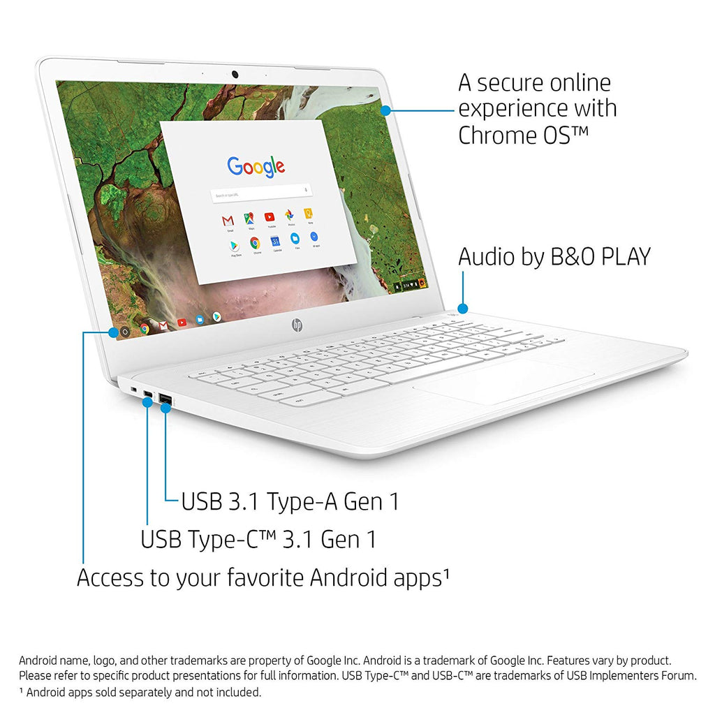 HP Chromebook 14-inch Laptop with 180-degree Hinge, Intel Celeron N3350 Processor, 4 GB RAM, 32 GB eMMC Storage, Chrome-Daily Steals