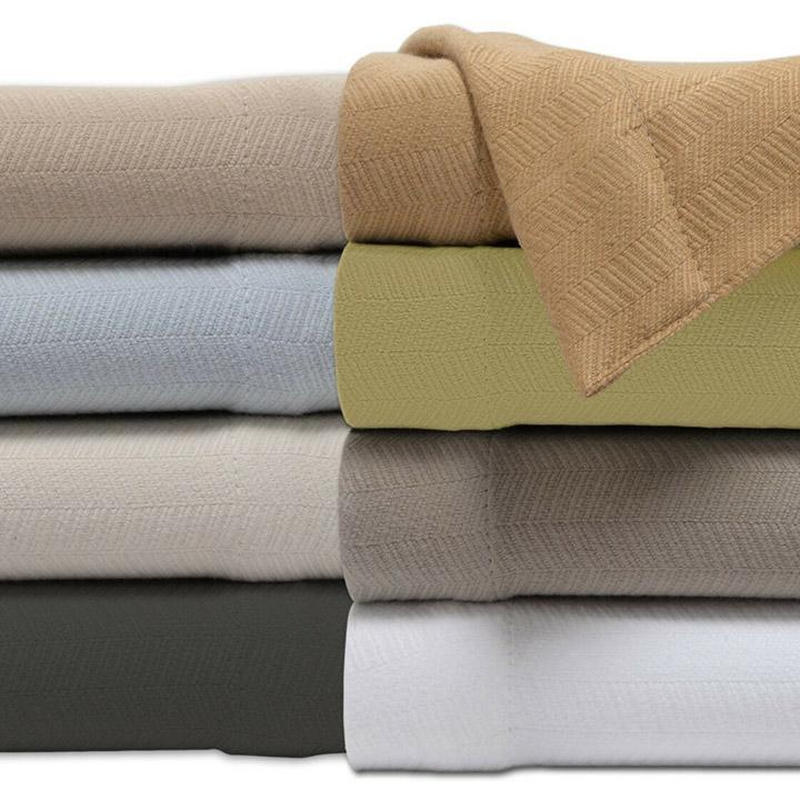 "100% Cotton Weave Soft 50"" x 60"" All-Season Throw Blanket-Daily Steals"