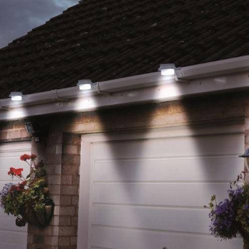 Daily Steals-Black or White Solar-Powered LED Outdoor Lights - 4 Pack-Outdoors and Tactical-White-