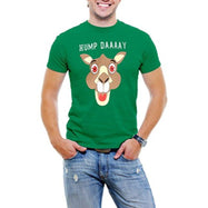 """Hump Day!"" Happy Camel Face Men's T-Shirt-Green-3XL-Daily Steals"