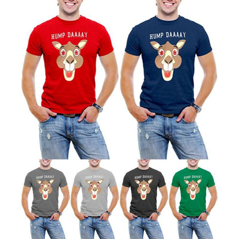 """Hump Day!"" Happy Camel Face Men's T-Shirt-Daily Steals"