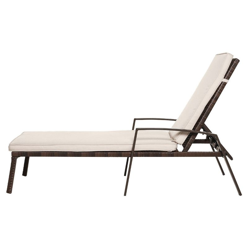 2 Piece Patio Rattan Adjustable Back Lounge Chair-Daily Steals