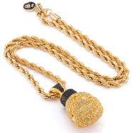 I Got The Power - Pave Boxing Glove Necklace in 18k Gold Filled-Daily Steals