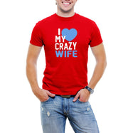 """I Love My Crazy Wife"" Men's T-Shirt-Red-4XL-Daily Steals"