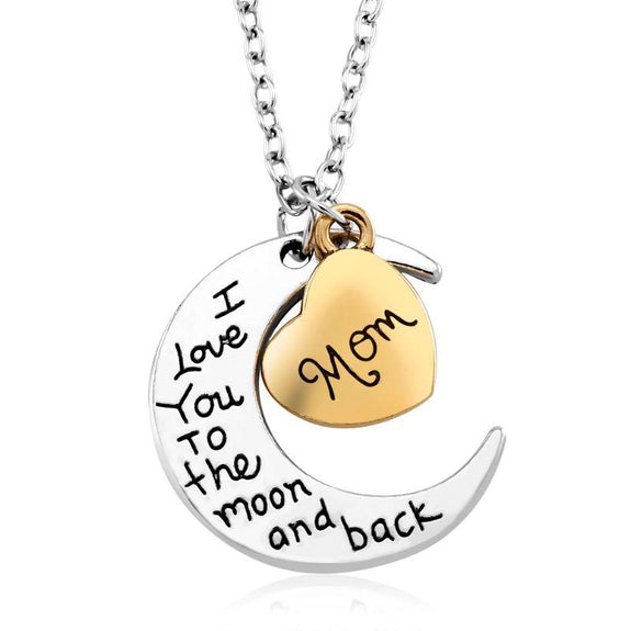 I Love you to The Moon and Back Mom Necklace-Daily Steals