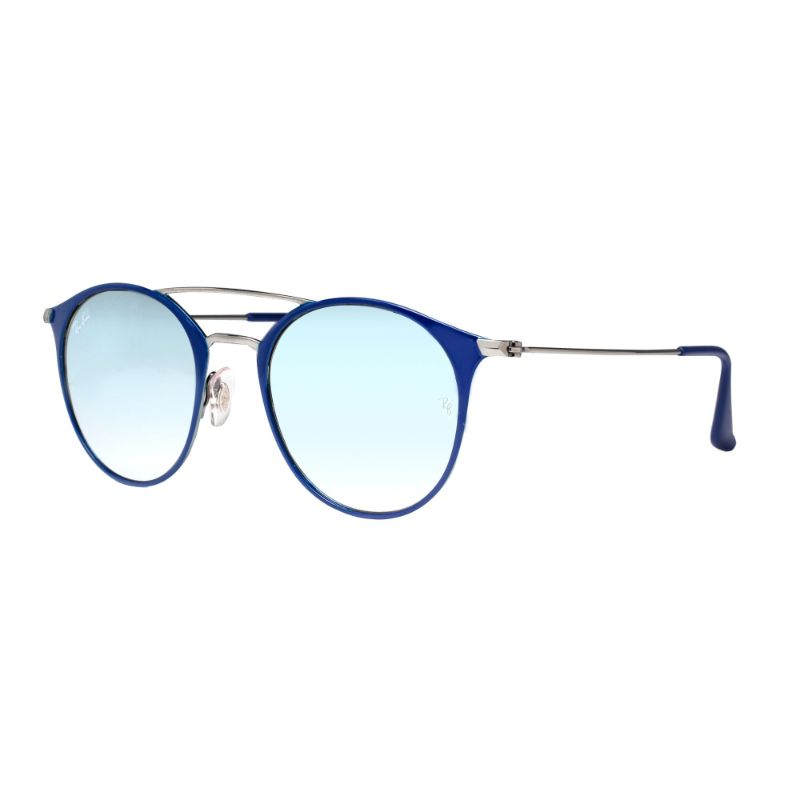 Ray Ban RB3546 9010/9U 49mm Flash Steel Round Sunglasses-Daily Steals