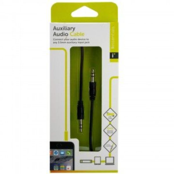 iEssentials 3.5mm Auxiliary Cable, 3.3ft - 6 Pack-Daily Steals