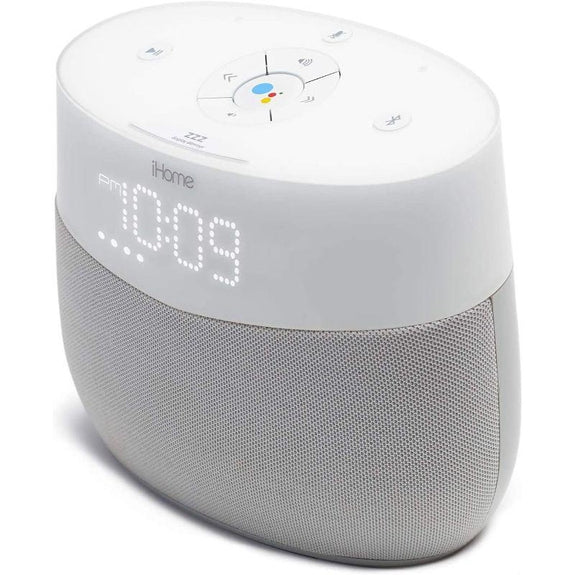 iHome Google Assistant Built-In Bedside Speaker System-