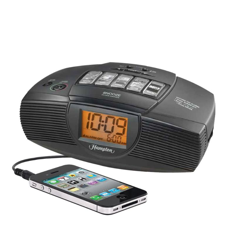 iHome Hampton Inn Alarm Clock and FM Radio-Daily Steals