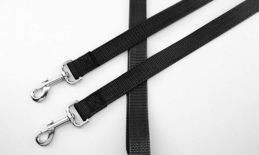 No-Tangle Two Dog Pet Leash-Black-Daily Steals