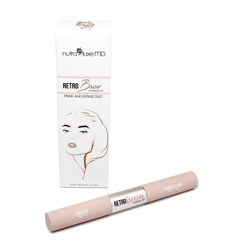 NutraluxeMD RetroBrow Prime and Extend Duo, Medium/Dark Color-Daily Steals