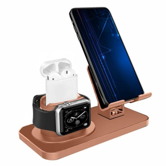 iMounTEK 3-in-1 Charging Dock Station Phone Charger Stand-Black-