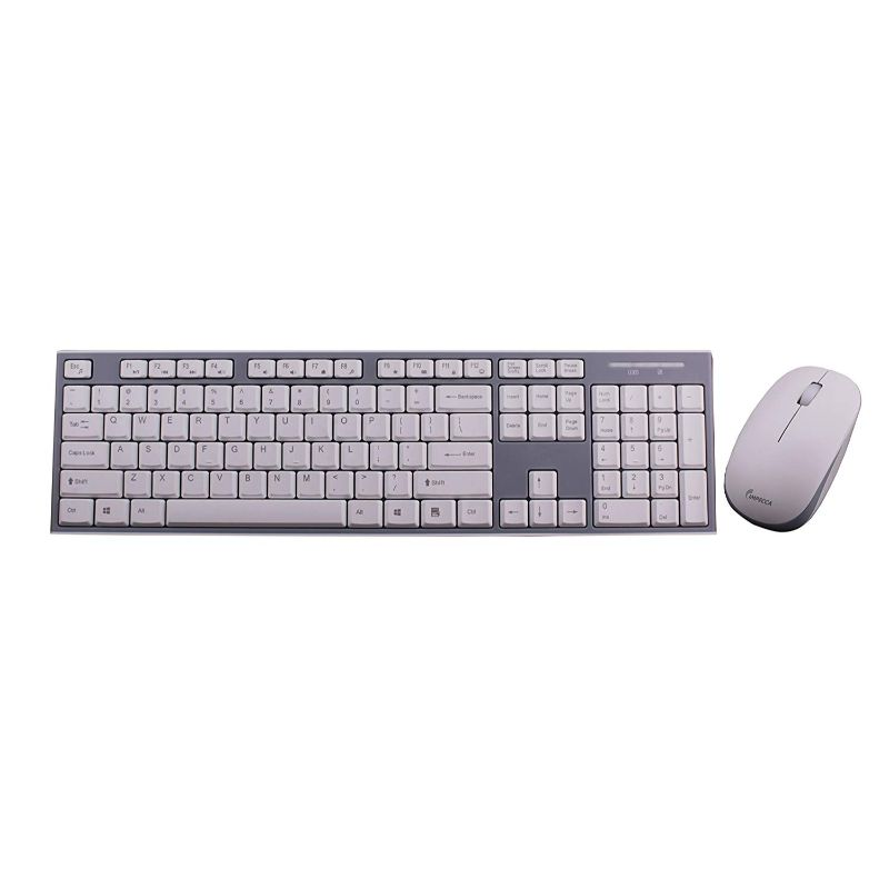 Impecca Wireless Keyboard and Mouse Combo-White/Gray-Daily Steals