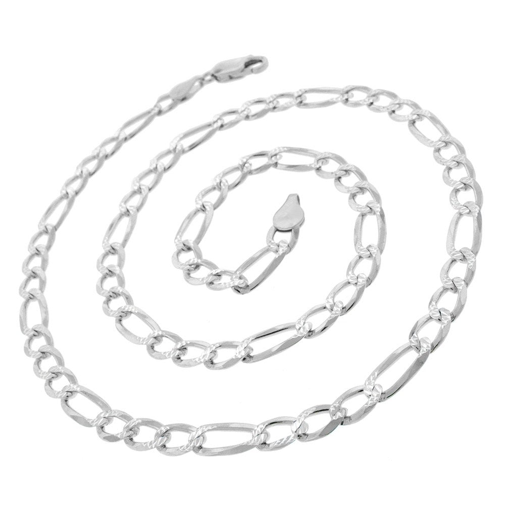 "Italian Pure 925 Sterling Silver Figaro Link ITProLux Necklace Chain-16""-Daily Steals"