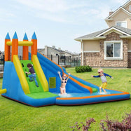 Inflatable Mighty Bounce House Jumper with Water Slide-