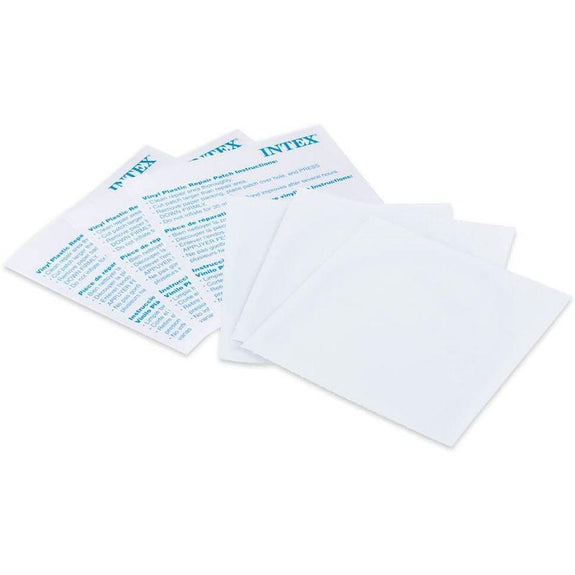 Intex Wet Vinyl Plastic Repair Patch 12 Patches - 2 Pack-