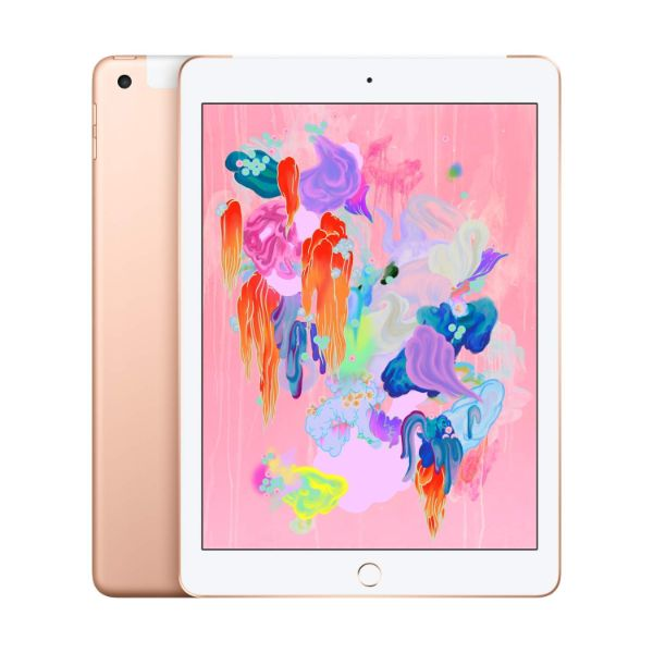 "Apple iPad - 2018 6th Generation - 9.7"" Display - 32GB 128GB - WiFi or Cellular Tablet-Gold-WiFi + Cellular-128GB-Daily Steals"