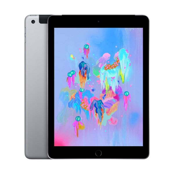 "Apple iPad - 2018 6th Generation - 9.7"" Display - 32GB 128GB - WiFi or Cellular Tablet-Space Gray-WiFi + Cellular-32GB-Daily Steals"