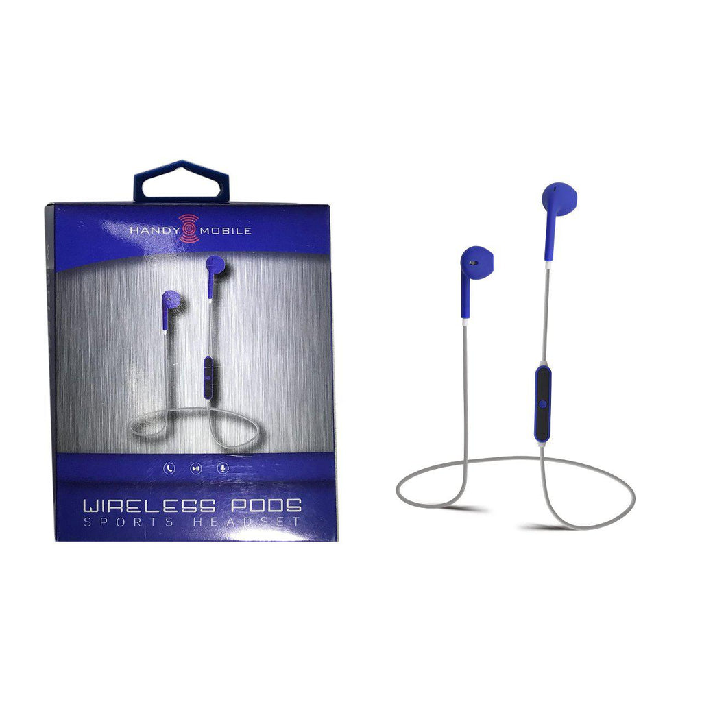 iPanda Wireless Pods Sports Headset-Blue-Daily Steals