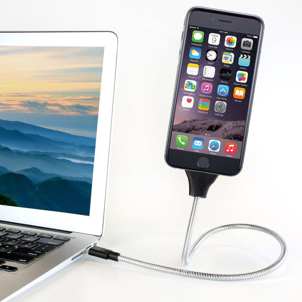 Flexible Cable Charger Mount- For iPhone and Android Devices-8PIN/iPhone-Daily Steals