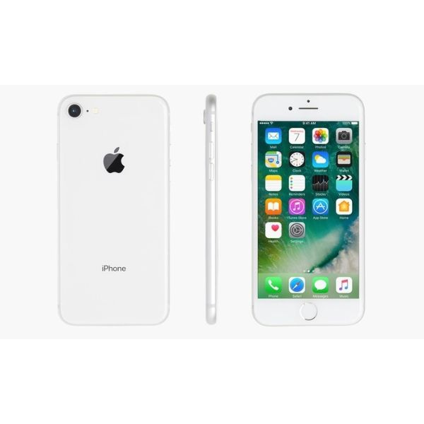 Apple iPhone 8/8 Plus (GSM Unlocked) with MFi-Certified Lightning Cable and Generic Power Adapter-Silver-iPhone 8-256GB-Daily Steals