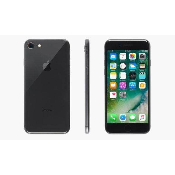 Apple iPhone 8/8 Plus (GSM Unlocked) with MFi-Certified Lightning Cable and Generic Power Adapter-Space Gray-iPhone 8-256GB-Daily Steals