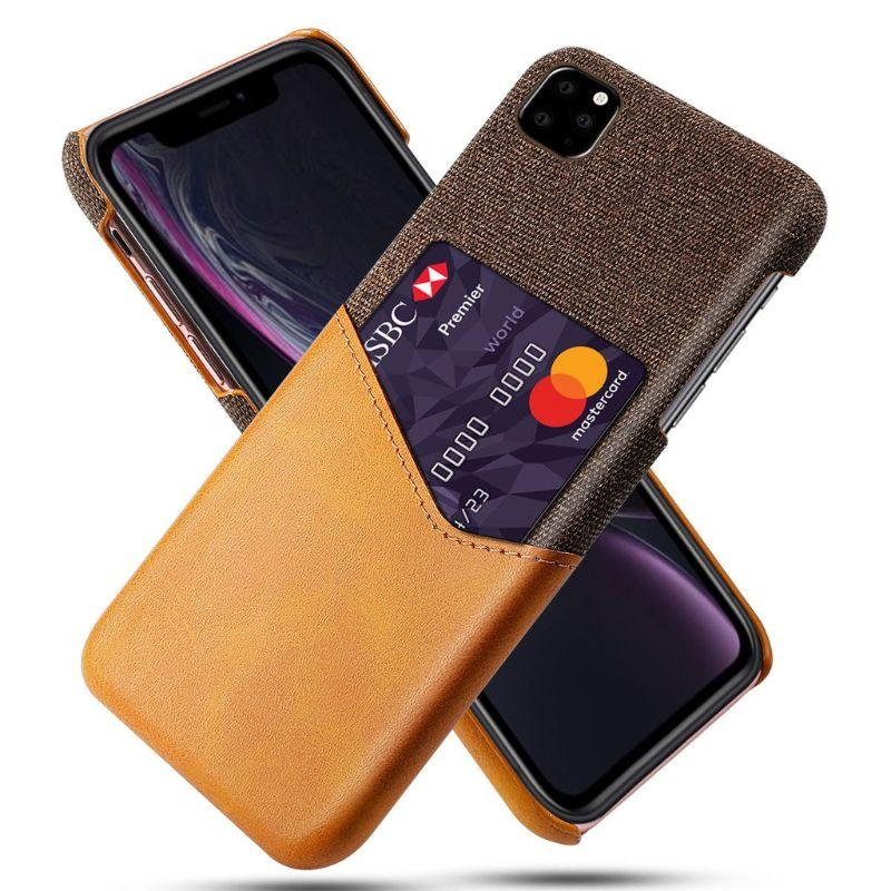 iPM iPhone's 11 Credit Card Holder Shock Resistant Fabric Case-Orange-iPhone 11-Daily Steals