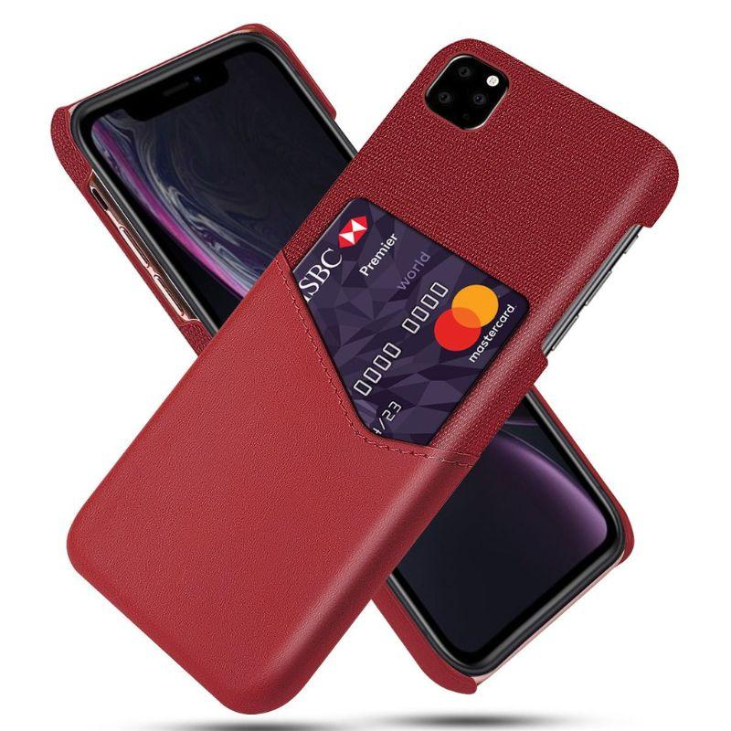 iPM iPhone's 11 Credit Card Holder Shock Resistant Fabric Case-Red-iPhone 11-Daily Steals