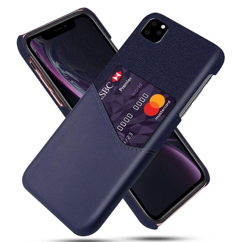iPM iPhone's 11 Credit Card Holder Shock Resistant Fabric Case-Dark Blue-iPhone 11-Daily Steals