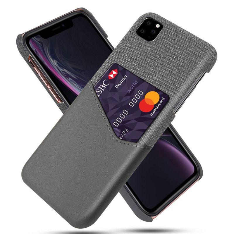 iPM iPhone's 11 Credit Card Holder Shock Resistant Fabric Case-Gray-iPhone 11-Daily Steals