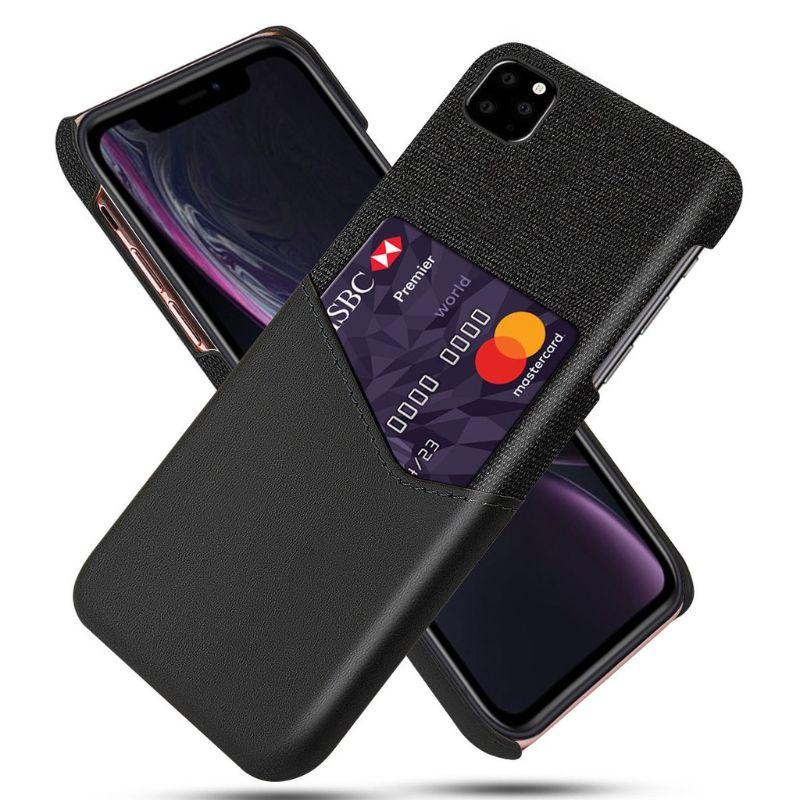 iPM iPhone's 11 Credit Card Holder Shock Resistant Fabric Case-Black-iPhone 11-Daily Steals