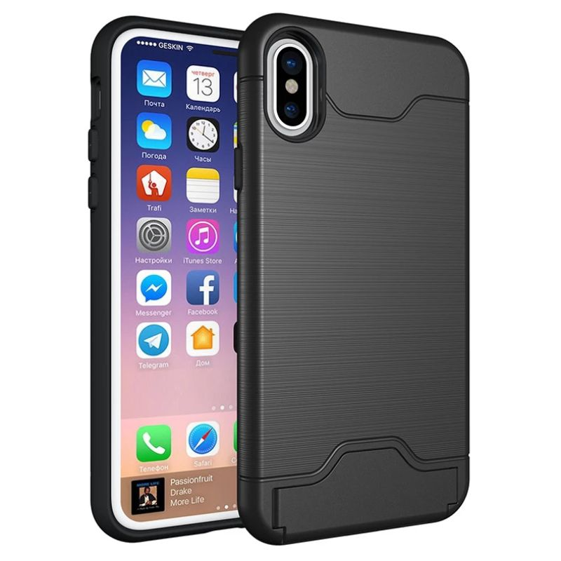 iPM Apple iPhone 11, Pro, Pro Max Case With Hidden Credit Card Slot-Black-iPhone 11-Daily Steals