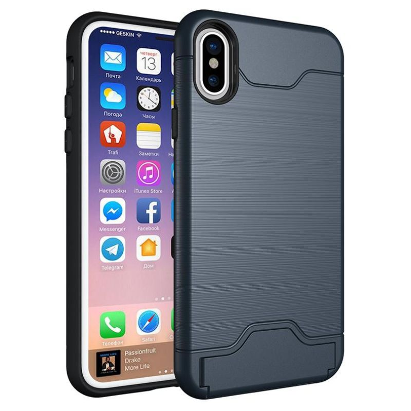 iPM Apple iPhone 11, Pro, Pro Max Case With Hidden Credit Card Slot-Navy-iPhone 11-Daily Steals