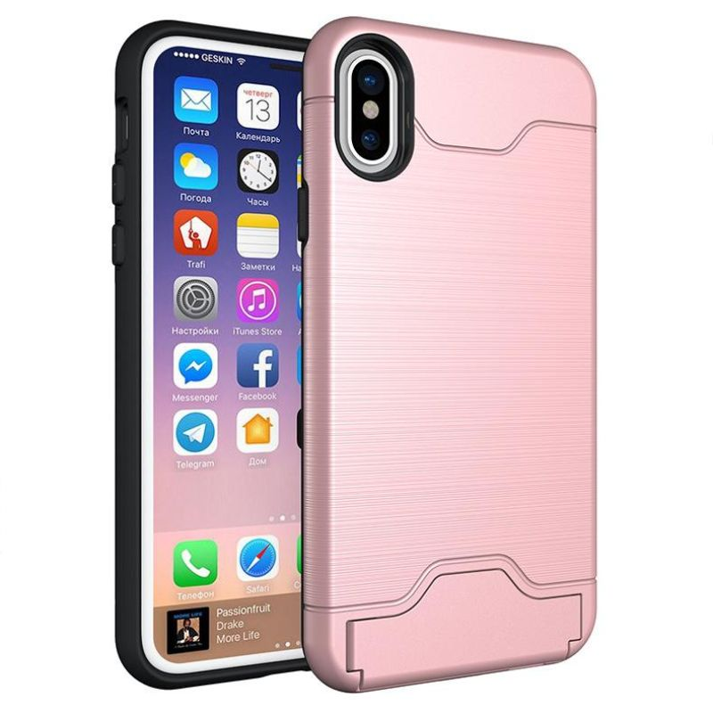 iPM Apple iPhone 11, Pro, Pro Max Case With Hidden Credit Card Slot-Rose Gold-iPhone 11-Daily Steals