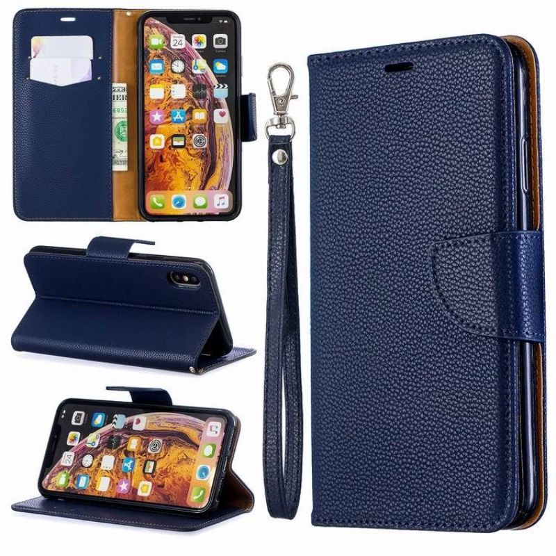 iPM PU Leather Wallet Case For Apple iPhone 11, Pro, Pro Max With Kickstand-Blue-iPhone 11 Pro Max-Daily Steals