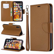 iPM PU Leather Wallet Case For Apple iPhone 11, Pro, Pro Max With Kickstand-Brown-iPhone 11-Daily Steals