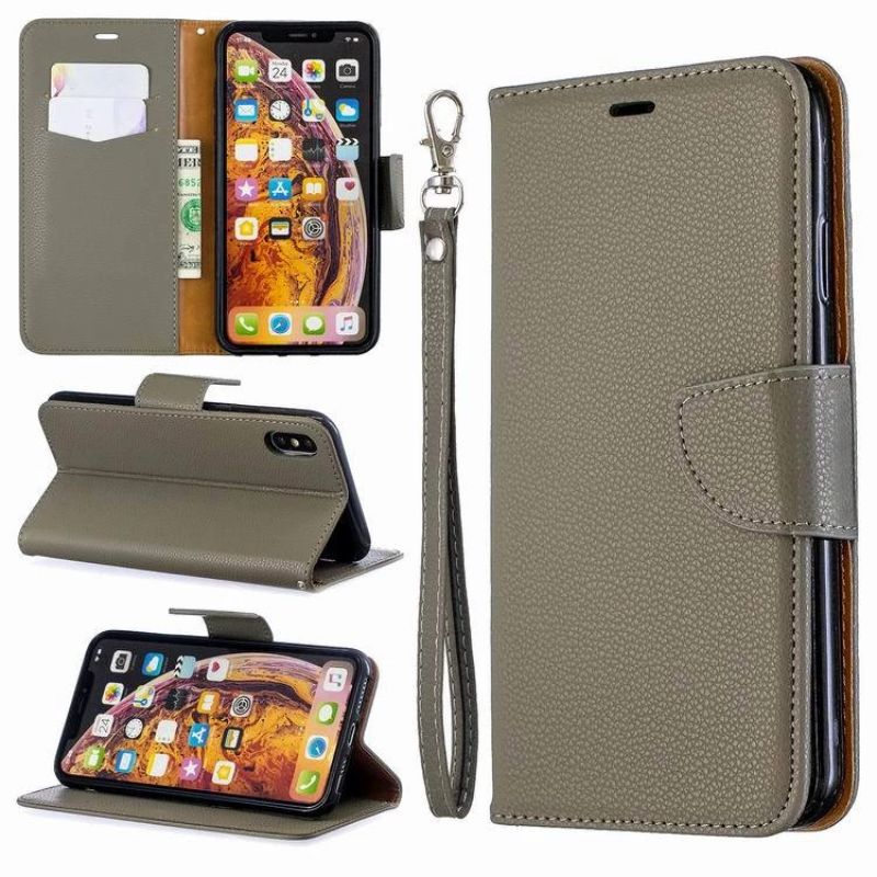 iPM PU Leather Wallet Case For Apple iPhone 11, Pro, Pro Max With Kickstand-Gray-iPhone 11 Pro-Daily Steals