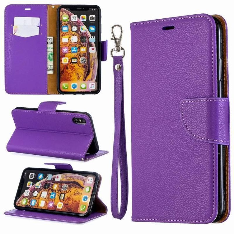 iPM PU Leather Wallet Case For Apple iPhone 11, Pro, Pro Max With Kickstand-Violet-iPhone 11-Daily Steals