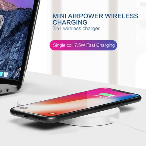 iPM 2 in 1 Wireless Charging Pad With Fast Qi Charger + Charger For Apple Watch-Daily Steals