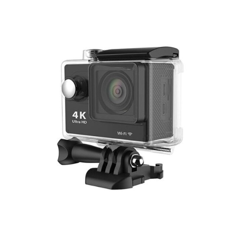 4K Waterproof Ultra HD Action Camera with Wi-Fi and Waterproof Case-Black-Daily Steals