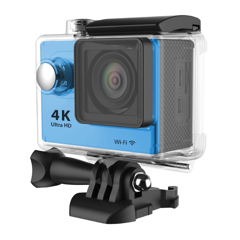 4K Waterproof Ultra HD Action Camera with Wi-Fi and Waterproof Case-Blue-Daily Steals