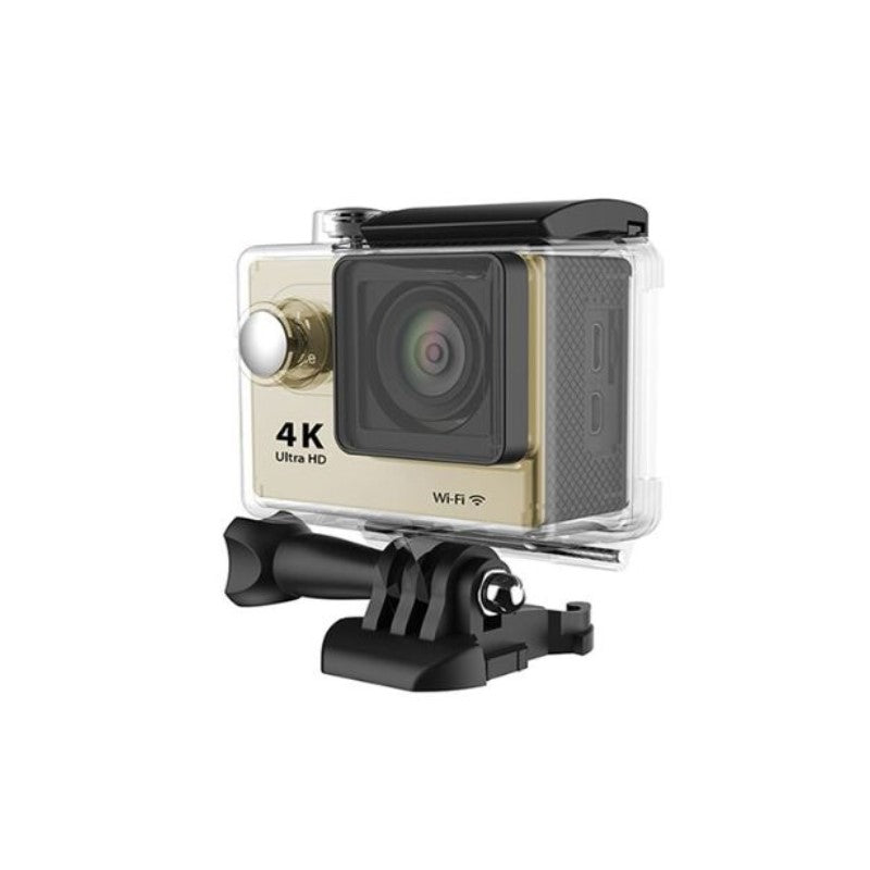4K Waterproof Ultra HD Action Camera with Wi-Fi and Waterproof Case-Gold-Daily Steals