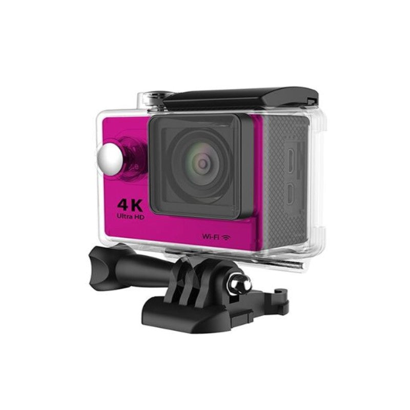 4K Waterproof Ultra HD Action Camera with Wi-Fi and Waterproof Case-Hot Pink-Daily Steals